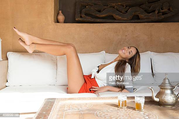 Model Nabilla is photographed for Self Assignment on October 30 2013 in Marrakech Morocco