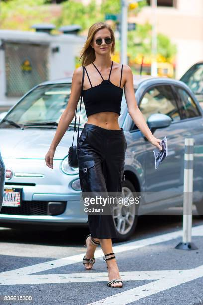 Model Nadine Leopold attends call backs for the 2017 Victoria's Secret Fashion Show in Midtown on August 21 2017 in New York City