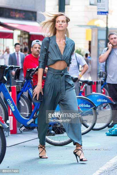 Model Nadine Leopold attends casting for the 2017 Victoria's Secret Fashion Show in Midtown on August 17 2017 in New York City