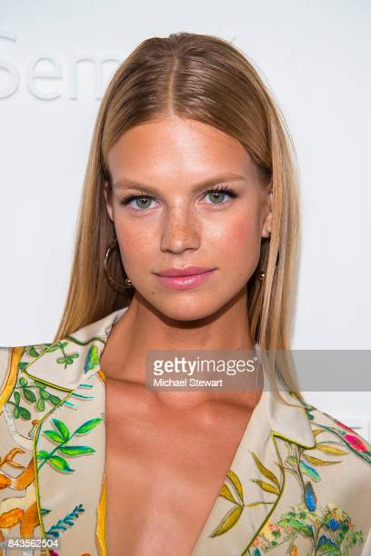 Model Nadine Leopold attends ELLE E IMG host A Celebration of Personal Style NYFW Kickoff Party on September 6 2017 in New York City