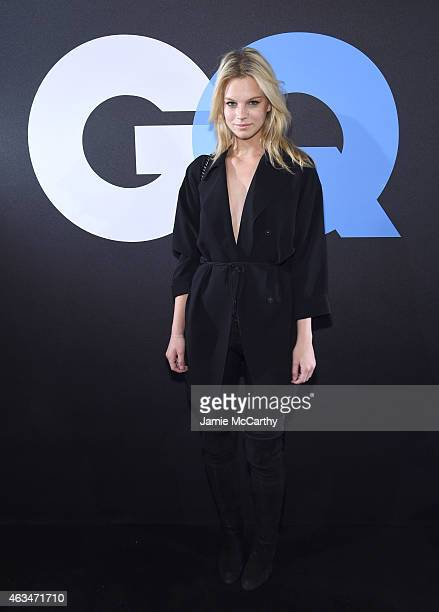 Model Nadine Leopold attends GQ and LeBron James Celebrate AllStar Style on February 14 2015 in New York City