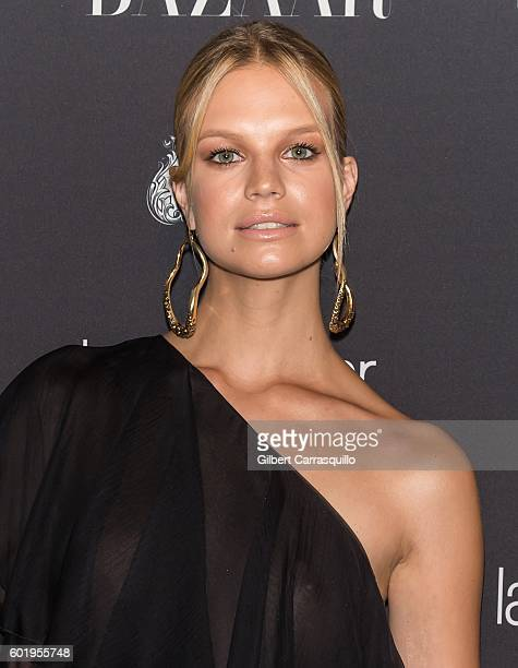 Model Nadine Leopold attends Harper's BAZAAR Celebrates 'ICONS By Carine Roitfeld' at The Plaza Hotel on September 9 2016 in New York City