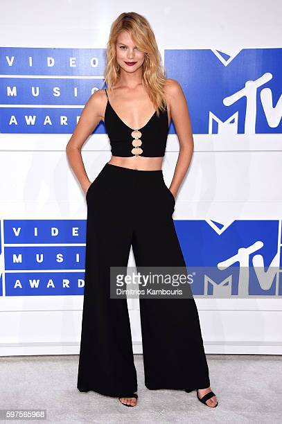 Model Nadine Leopold attends the 2016 MTV Video Music Awards at Madison Square Garden on August 28 2016 in New York City