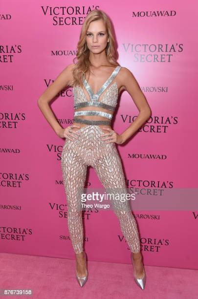 Model Nadine Leopold attends the 2017 Victoria's Secret Fashion Show In Shanghai After Party at MercedesBenz Arena on November 20 2017 in Shanghai...