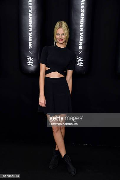 Model Nadine Leopold attends the Alexander Wang X HM Launch on October 16 2014 in New York City