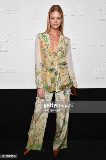 Model Nadine Leopold attends the NYFW Kickoff Party A Celebration Of Personal Style hosted by E ELLE IMG and sponsored by TRESEMME on September 6...