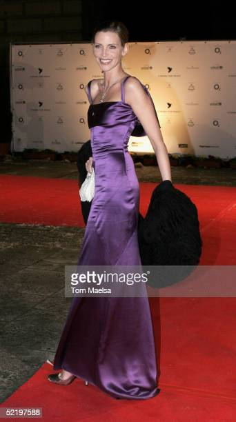 Model Nadja Auermann arrives at the Cinema For Peace Awards on February 14 2005 in Berlin Germany