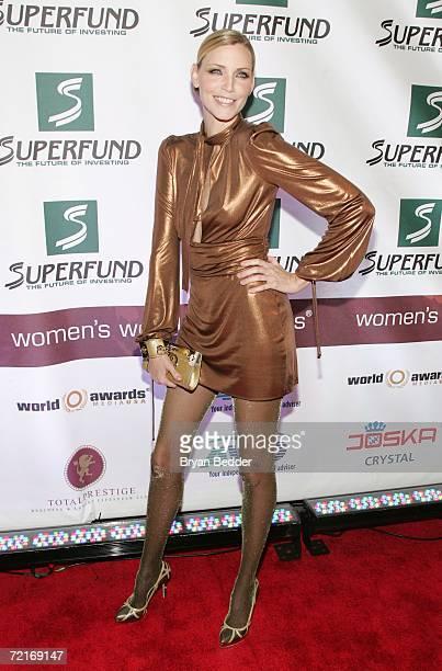 Model Nadja Auermann attends the 3rd Annual Women's World Awards at Hammerstein Ballroom October 14 2006 in New York City