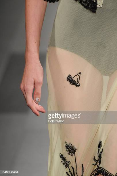 A model nails detail walks the runway for Anna Sui fashion show during New York Fashion Week The Shows at Gallery 1 Skylight Clarkson Sq September 11...