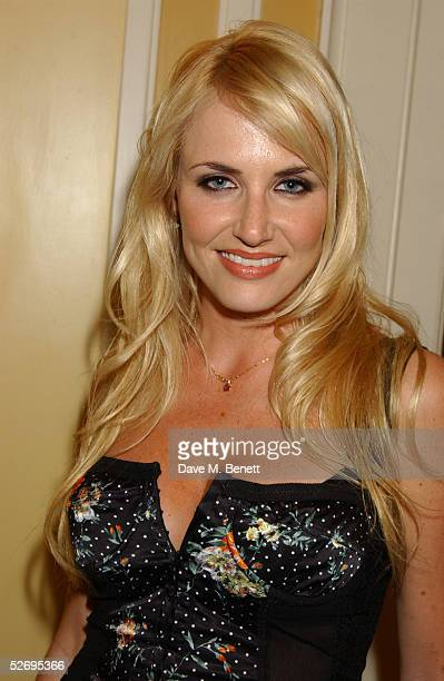 Model Nancy Sorrell attends the UK FiFi Awards at The Dorchester on April 25 2005 in London England The awards mirror the International FiFi Awards...
