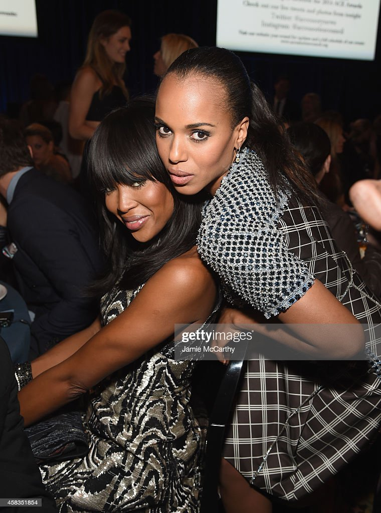 Model Naomi Campbell and actress Kerry Washington attend the 18th Annual Accessories Council ACE Awards At Cipriani 42nd Street at Cipriani 42nd Street on November 3, 2014 in New York City.