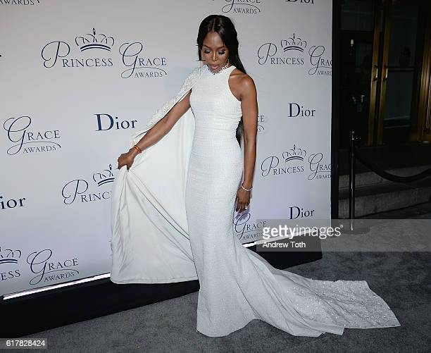 Model Naomi Campbell and Christian Dior Couture President and CEO Sidney Toledano attend the 2016 Princess Grace Awards Gala with presenting sponsor...