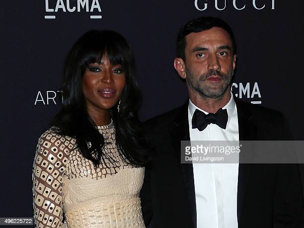 Model Naomi Campbell and designer Riccardo Tisci attend the LACMA Art + Film Gala honoring Alejandro G. Iñárritu and James Turrell and presented by...