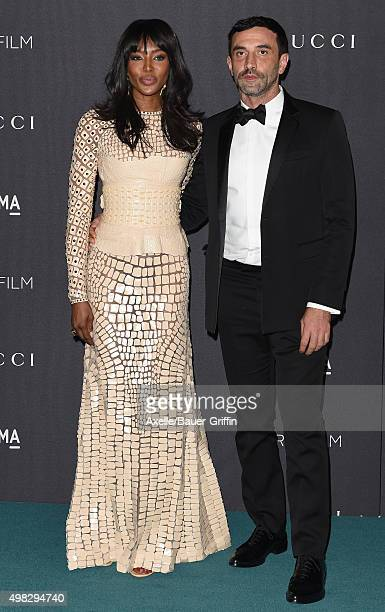 Model Naomi Campbell and designer Riccardo Tishi arrive at the LACMA 2015 Art+Film Gala Honoring James Turrell And Alejandro G Inarritu, Presented By...