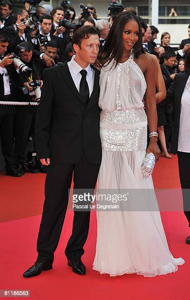 Model Naomi Campbell and guest arrive at the 'Che' Premiere at the Palais des Festivals during the 61st International Cannes Film Festival on May 21,...
