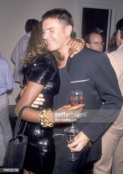Model Naomi Campbell and Musician Simon Le Bon of Duran Duran attend the Party for Bob Colacello's New Book Holy Terror Andy Warhol Close Up' on...