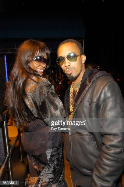 Model Naomi Campbell and producer Dallas Austin attend the Notorious BIG Duets Remix Video Shoot at the Dream Hotel November 17 2005 in New York City...