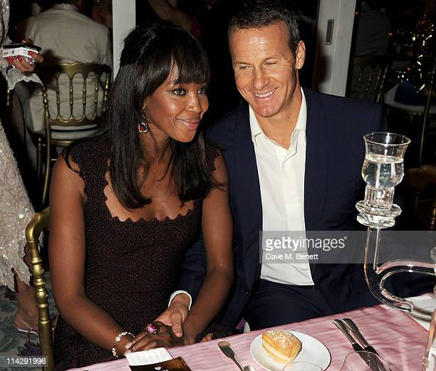 Model Naomi Campbell and Vladimir Doronin attend the de Grisogono Dinner at the Hotel du Cap Eden Roc on May 17 2011 in Cannes France