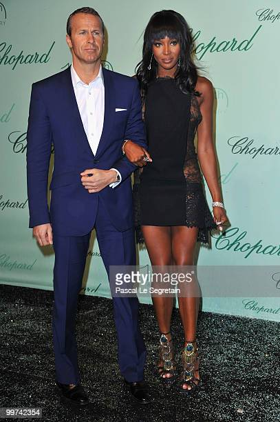 Model Naomi Campbell and Vladislav Doronin attend the Chopard 150th Anniversary Party at Palm Beach Pointe Croisette during the 63rd Annual Cannes...