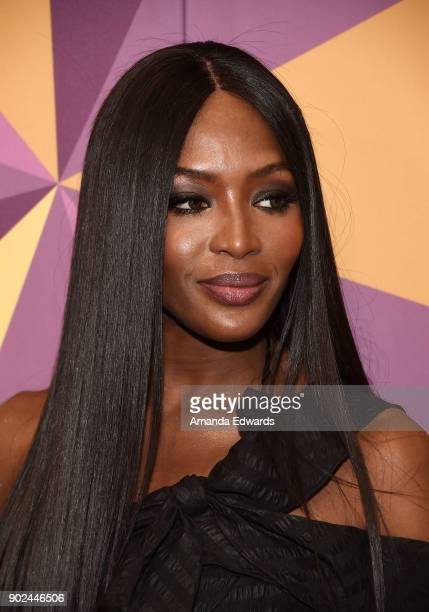 Model Naomi Campbell arrives at HBO's Official Golden Globe Awards After Party at Circa 55 Restaurant on January 7 2018 in Los Angeles California