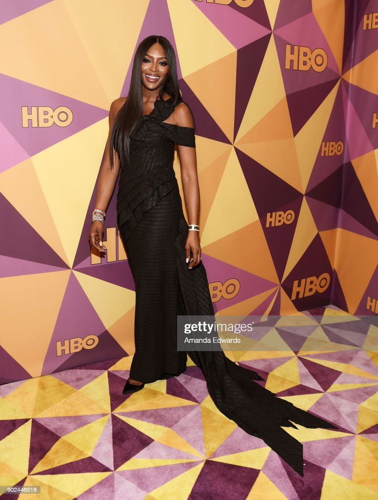 Model Naomi Campbell arrives at HBO's Official Golden Globe Awards After Party at Circa 55 Restaurant on January 7, 2018 in Los Angeles, California.