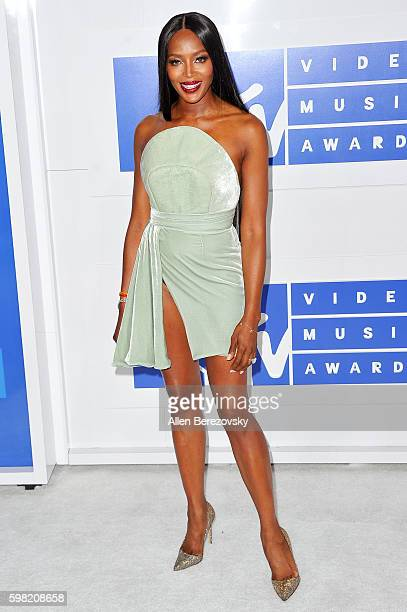 Model Naomi Campbell arrives at the 2016 MTV Video Music Awards at Madison Square Garden on August 28 2016 in New York City