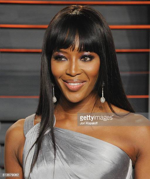 Model Naomi Campbell arrives at the 2016 Vanity Fair Oscar Party Hosted By Graydon Carter at Wallis Annenberg Center for the Performing Arts on...