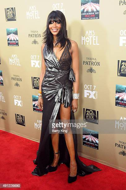 Model Naomi Campbell arrives at the Premiere Screening Of FX's 'American Horror Story Hotel' at Regal Cinemas LA Live on October 3 2015 in Los...