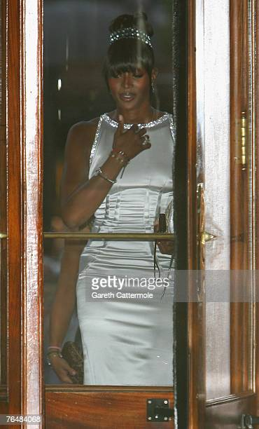 Model Naomi Campbell arrives at the 'Unite For A Better World Gala Dinner' on September 2 2007 at the Hotel de Paris in Monte Carlo Monaco The gala...