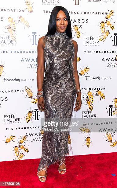 Model Naomi Campbell attends 2015 Fragrance Foundation Awards at Alice Tully Hall at Lincoln Center on June 17 2015 in New York City