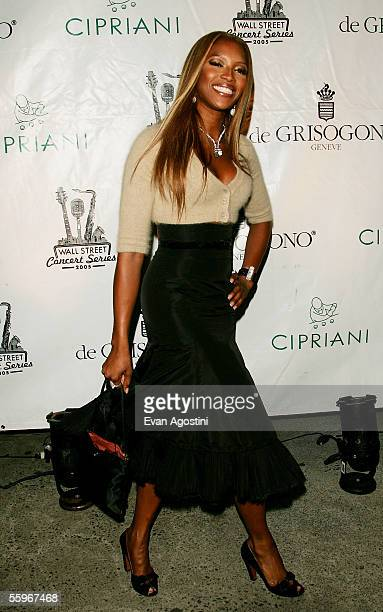 Model Naomi Campbell attends a Mary J. Blige concert at Cipriani's Wall Street, part of the Cipriani Wall Street concert series October 19, 2005 in...