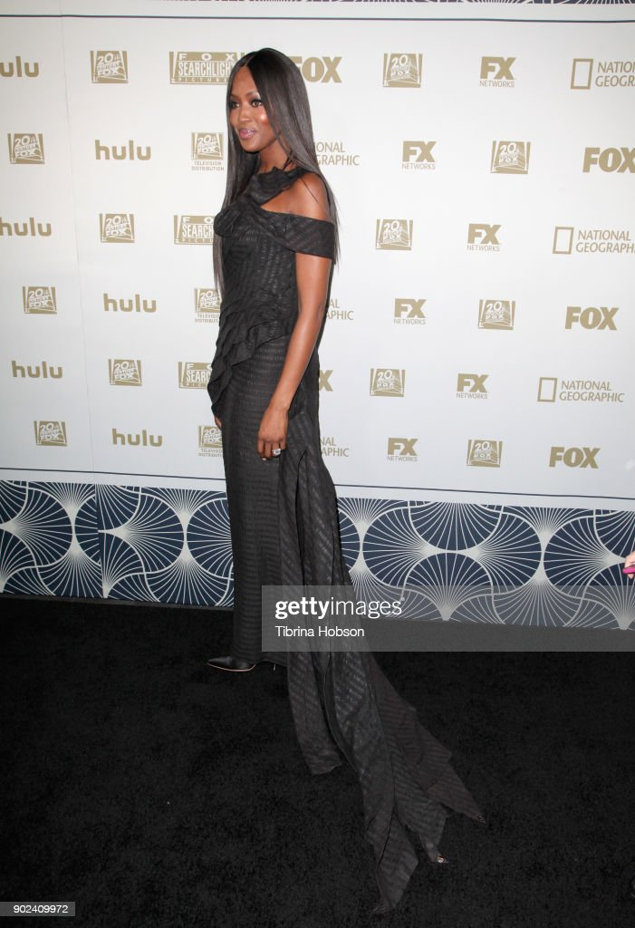 Model Naomi Campbell attends FOX, FX and Hulu 2018 Golden Globe Awards After Party at The Beverly Hilton Hotel on January 7, 2018 in Beverly Hills, California.