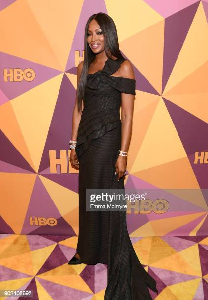 Model Naomi Campbell attends HBO's Official Golden Globe Awards After Party at Circa 55 Restaurant on January 7 2018 in Los Angeles California