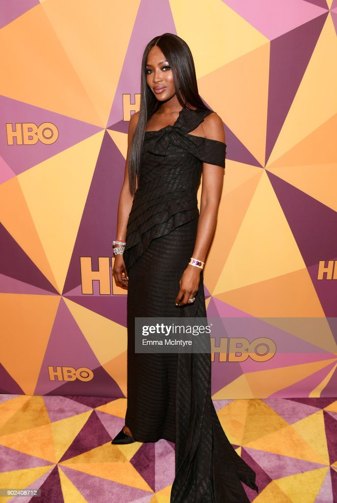 Model Naomi Campbell attends HBO's Official Golden Globe Awards After Party at Circa 55 Restaurant on January 7, 2018 in Los Angeles, California.