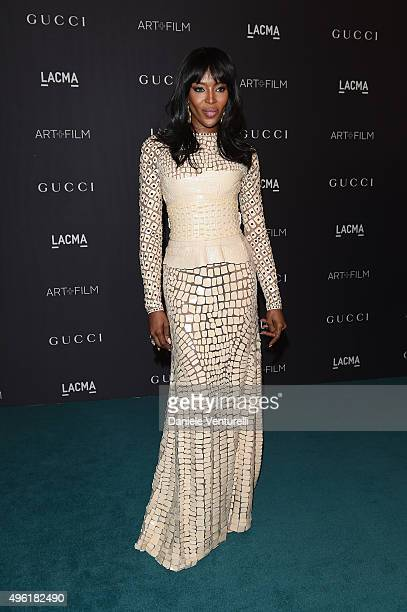 Model Naomi Campbell attends LACMA 2015 Art+Film Gala Honoring James Turrell and Alejandro G Iñárritu, Presented by Gucci at LACMA on November 7,...