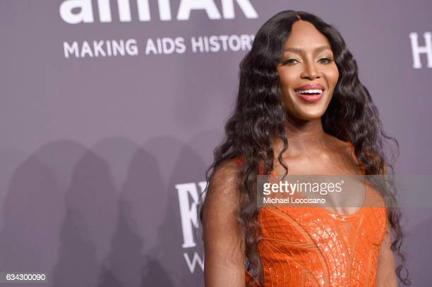 Model Naomi Campbell attends the 19th Annual amfAR New York Gala at Cipriani Wall Street on February 8 2017 in New York City
