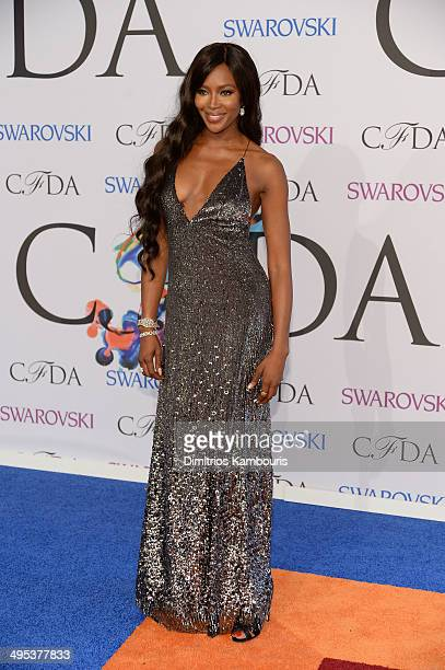 Model Naomi Campbell attends the 2014 CFDA fashion awards at Alice Tully Hall Lincoln Center on June 2 2014 in New York City