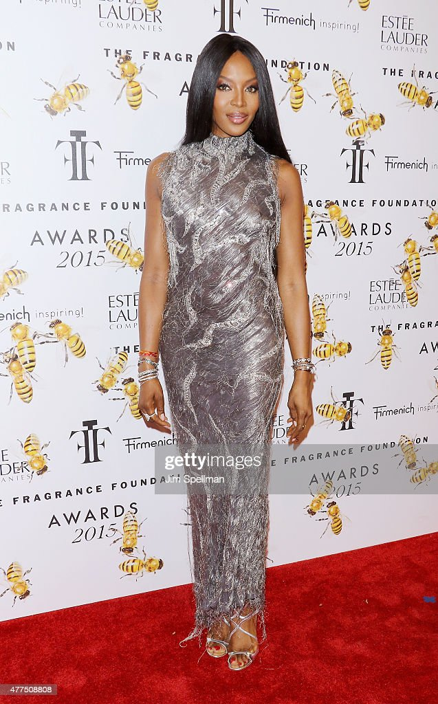 Model Naomi Campbell attends the 2015 Fragrance Foundation Awards at Alice Tully Hall at Lincoln Center on June 17, 2015 in New York City.