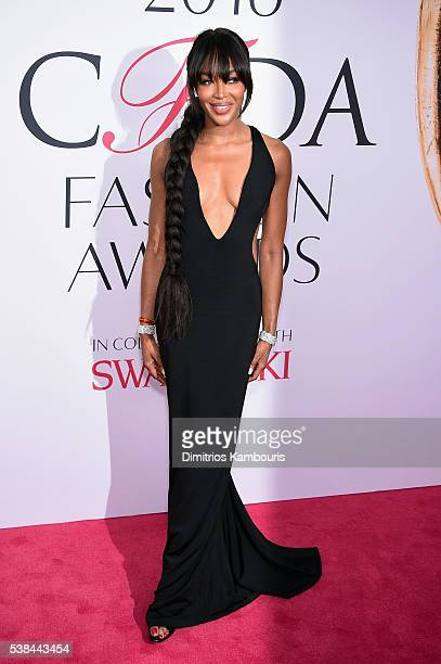 Model Naomi Campbell attends the 2016 CFDA Fashion Awards at the Hammerstein Ballroom on June 6, 2016 in New York City.