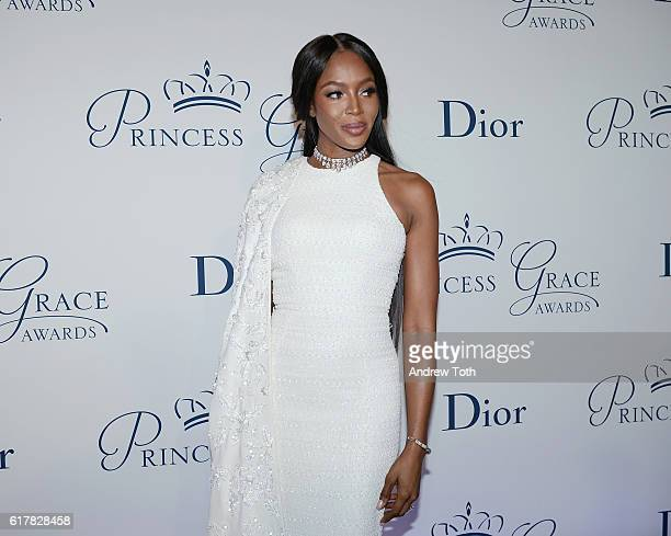 Model Naomi Campbell attends the 2016 Princess Grace Awards Gala with presenting sponsor Christian Dior Couture at Cipriani 25 Broadway on October 24...