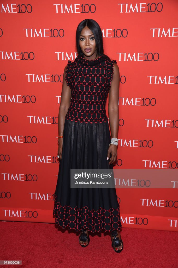 Model Naomi Campbell attends the 2017 Time 100 Gala at Jazz at Lincoln Center on April 25, 2017 in New York City.