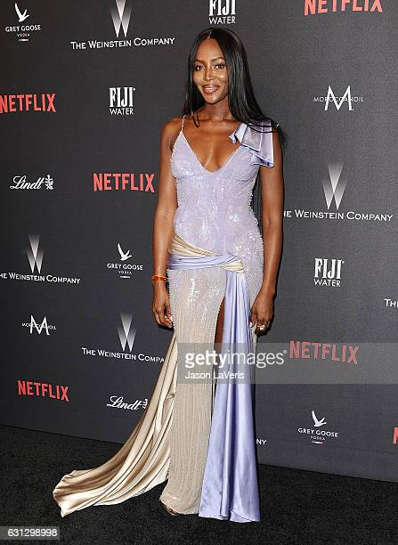 Model Naomi Campbell attends the 2017 Weinstein Company and Netflix Golden Globes after party on January 8 2017 in Los Angeles California