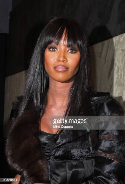 Model Naomi Campbell attends the 4th Annual Front Row Fashion Show at the Roseland Ballroom on October 24 2009 in New York City