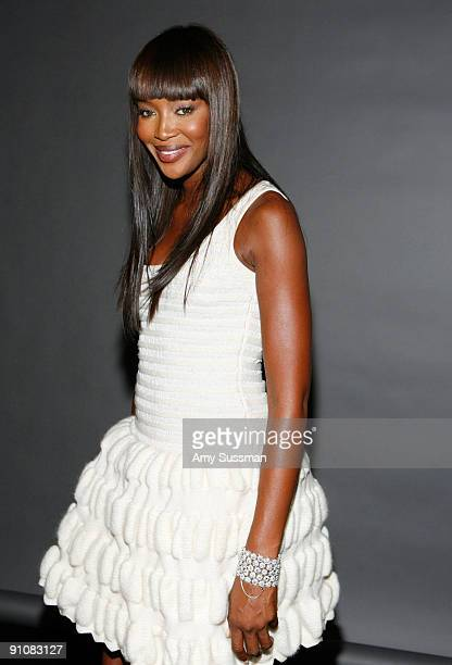 Model Naomi Campbell attends the 4th Important Dinner for Women hosted by HM Queen Rania Al Abdullah Wendi Murdoch and Indra Nooyi at Cipriani 42nd...