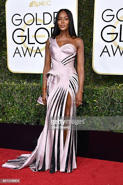 Model Naomi Campbell attends the 74th Annual Golden Globe Awards at The Beverly Hilton Hotel on January 8, 2017 in Beverly Hills, California.