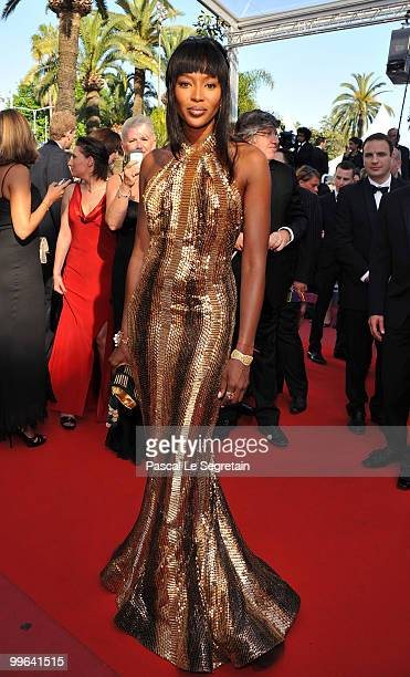 """Model Naomi Campbell attends the """"Biutiful"""" Premiere at the Palais des Festivals during the 63rd Annual Cannes Film Festival on May 17, 2010 in..."""