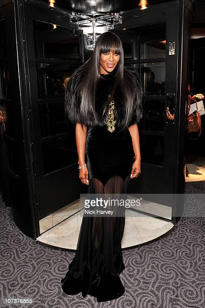 Model Naomi Campbell attends the British Fashion Awards 2010 at The Savoy Theatre on December 7, 2010 in London, England.