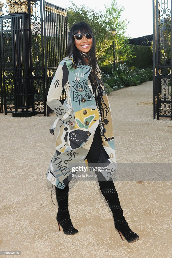 Model Naomi Campbell attends the Burberry 'London in Los Angeles' event at Griffith Observatory on April 16, 2015 in Los Angeles, California.