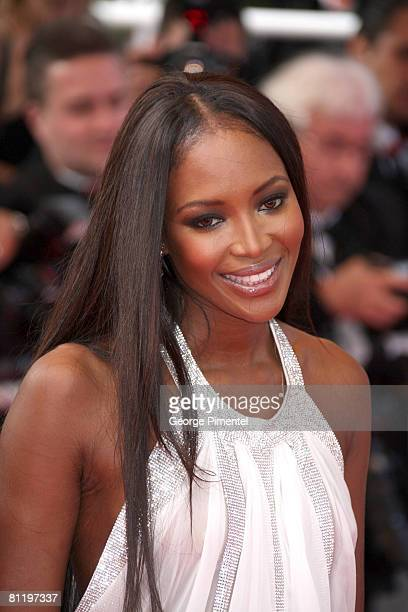 """Model Naomi Campbell attends the """"Che"""" premiere at the Palais des Festivals during the 61st International Cannes Film Festival on May 21, 2008 in..."""