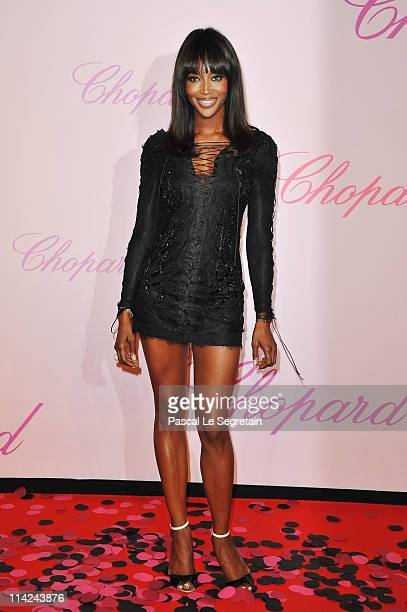 Model Naomi Campbell attends the Diamonds Are Girls Best Friend event during the 64th Annual Cannes Film Festival held at Nikki Beach on May 16 2011...